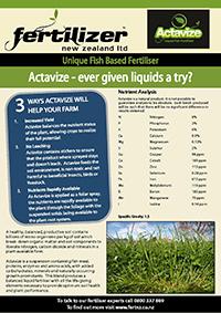 Actavize Fertiliser fertilizer nz organic liquid humate phosphate calcium nitrogen magnesium microbes