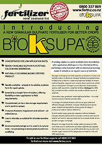 BioKSupa Fertiliser fertilizer nz organic liquid humate phosphate calcium nitrogen magnesium microbes