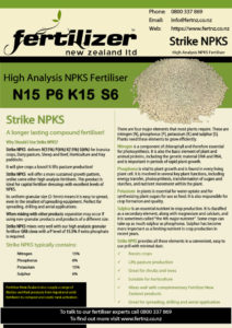 Strike NPKS Fertiliser fertilizer nz organic liquid humate phosphate calcium nitrogen magnesium microbes